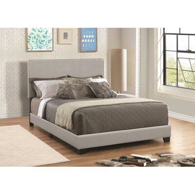 Bazzinotti Upholstered Panel Bed Size: Full, Color: Gray