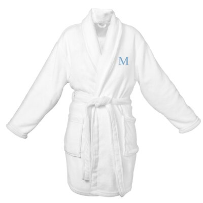 Bevans Personalized Plush Bathrobe Letter: M