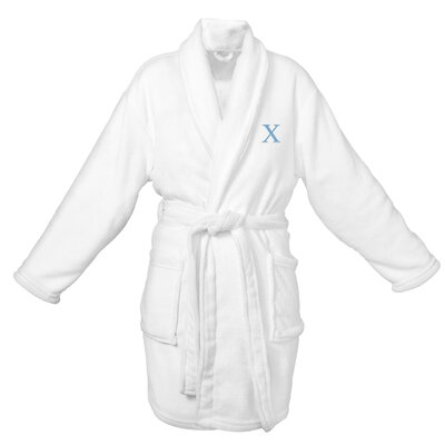 Bevans Personalized Plush Bathrobe Letter: X
