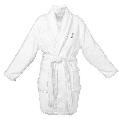 Bevans Personalized Plush Bathrobe Letter: J