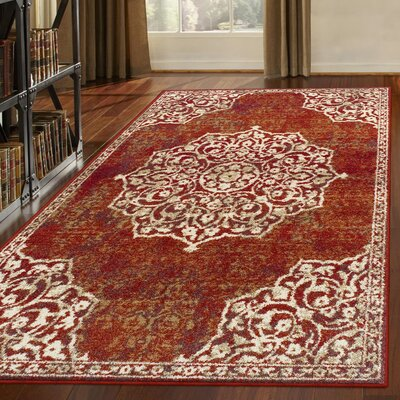 Mcgill Maroon Area Rug Rug Size: Rectangle 8 x 10