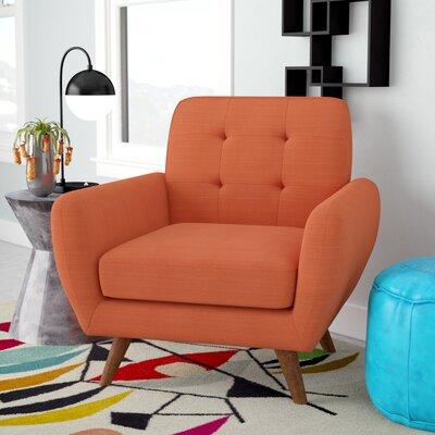 Springdale Mid-Century Modern Armchair Upholstery: Dark Orange