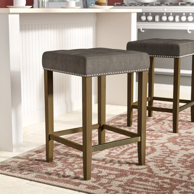 Northampton 26 Bar Stool Upholstery: Frost Gray