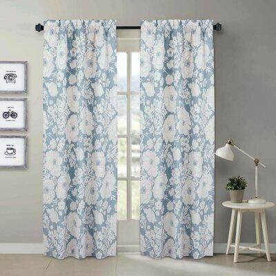 Rabinowitz Floral Room Darkening Rod Pocket Curtain Panels