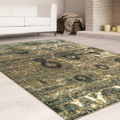 Mcginley Blue/Brown Area Rug Rug Size: Rectangle 8 x 10
