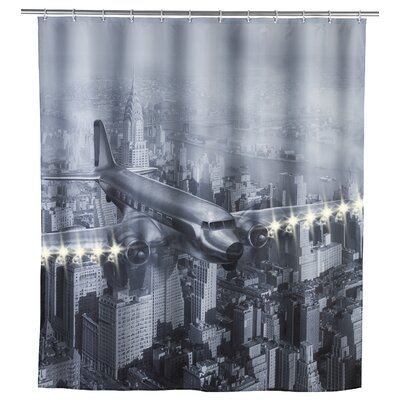 LED Old Plane Shower Curtain (Set of 3)