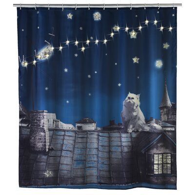 LED Moon Cat Shower Curtain (Set of 3)
