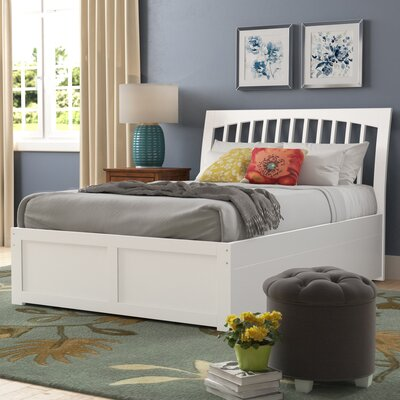 Homer Storage Sleigh Bed Size: Full, Color: White
