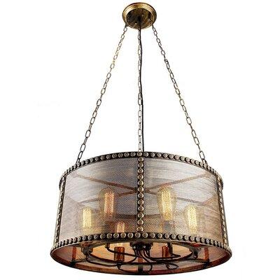 Hanlon Vintage Shade 6-Light  LED  Chandelier ED3B9B30814A423680150D89B9A9A2C9