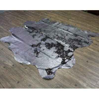 One-of-a-Kind Pardo Luxurious Hand-Woven Cowhide Gray Area Rug
