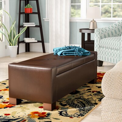 Shaffer Storage Ottoman Upholstery: Brown