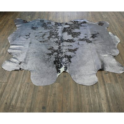One-of-a-Kind Pardue Premium Hand-Woven Cowhide Gray Area Rug