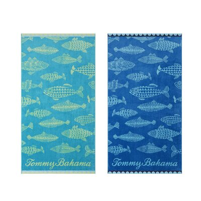 Fish 2 Piece Beach Towel Tommy Bahama Bedding