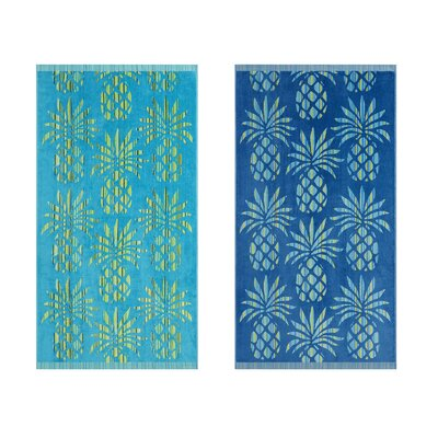 Pineapple Stripe 2 Piece Beach Towel Tommy Bahama Bedding