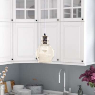 Pruett 1-Light LED Bell Mini Pendant