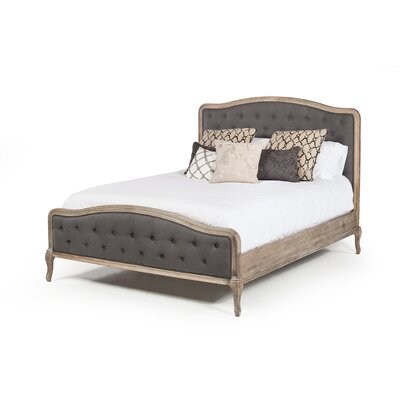 Vieux Vintage Queen Upholstered Panel Bed