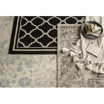 Lappin Ivory/Gray Area Rug Rug Size: Rectangle 77 x 1010