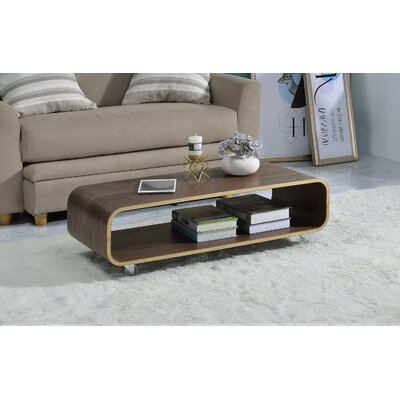 Dressler Bentwood Rolling Coffee Table Color: Walnut