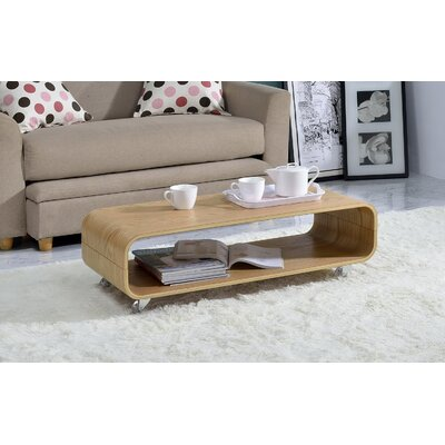 Dressler Bentwood Rolling Coffee Table Color: Oak