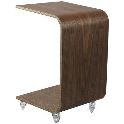 Drews Bentwood End Table Color: Walnut