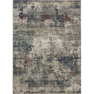 Rademacher Gray/Burgundy Area Rug Rug Size: Rectangle 67 x 91
