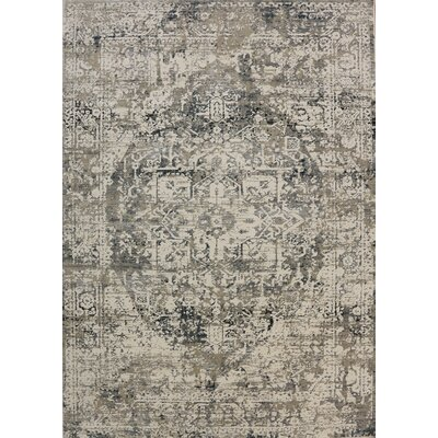 Rademacher Cream/Gray Area Rug Rug Size: Rectangle 4 x 57