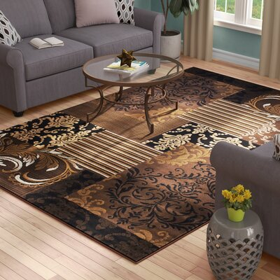 Butler High-Quality Floral Designed Chocolate Area Rug Rug Size: 5 x 611