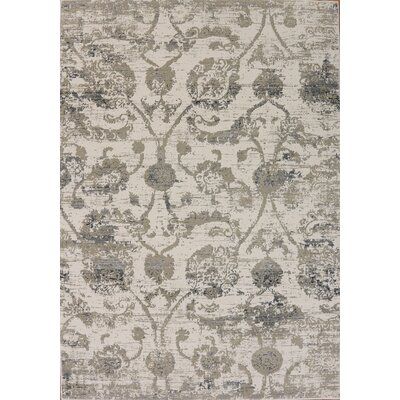Rademacher Cream Area Rug Rug Size: Rectangle 67 x 91