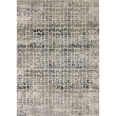 Rademacher Cream/Gray Area Rug Rug Size: Rectangle 53 x 76