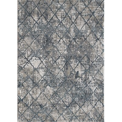 Rademacher Cream/Blue Area Rug Rug Size: Rectangle 4 x 57