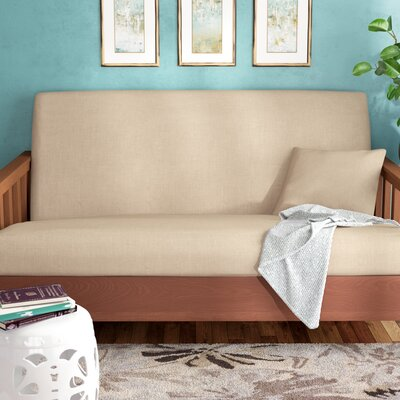 Box Cushion Futon Slipcover Upholstery: Linen