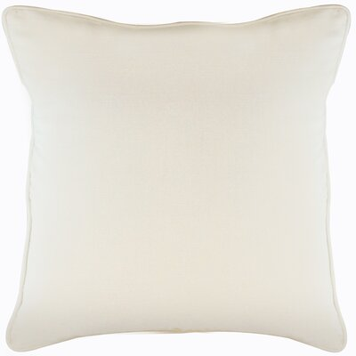Platz Cotton Throw Pillow Color: Ivory