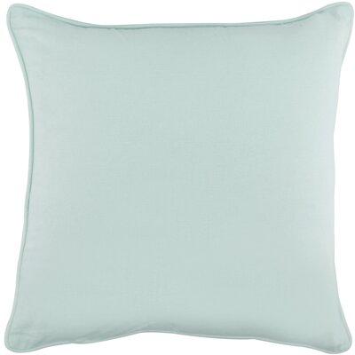 Platz Cotton Throw Pillow Color: Spa Blue