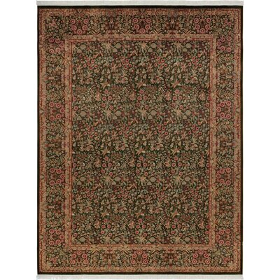 One-of-a-Kind Delron Hand-Knotted Wool Green/Gold Area Rug