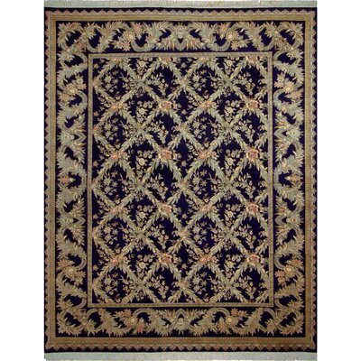One-of-a-Kind Delron Hand-Knotted Wool Blue/Gray Area Rug