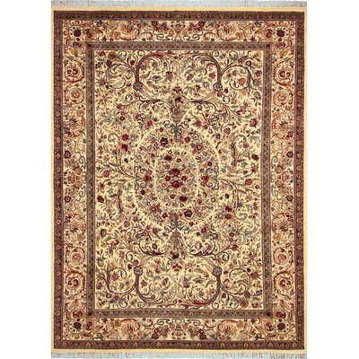 One-of-a-Kind Delron Hand-Knotted Wool Ivory/Gold Area Rug