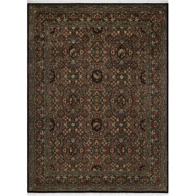 One-of-a-Kind Delron Hand-Knotted Wool Black/Gold Area Rug
