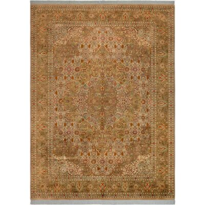 One-of-a-Kind Delron Hand-Knotted Wool Tan Area Rug