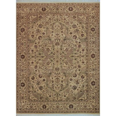 One-of-a-Kind Delron Hand-Knotted Wool Ivory/Tan Area Rug