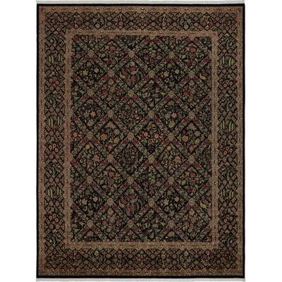 One-of-a-Kind Delron Hand-Knotted Wool Black/Gray Area Rug