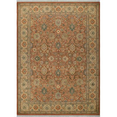 One-of-a-Kind Delron Lahore Hand-Knotted Wool Rust/Tan Area Rug
