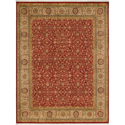 One-of-a-Kind Delron Hand-Knotted Wool Rust/Tan Area Rug