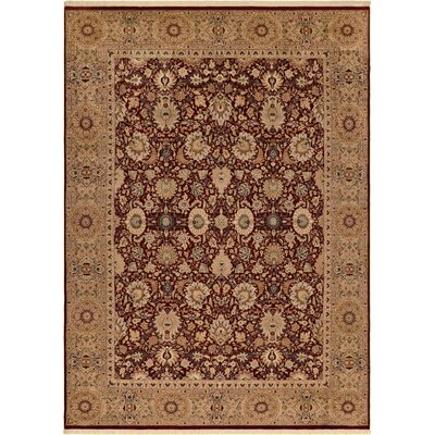 One-of-a-Kind Delron Lahore Hand-Knotted Wool Red/Tan Area Rug