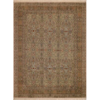 One-of-a-Kind Mcdavid Hand-Knotted Wool Light Tan/Light Brown Area Rug