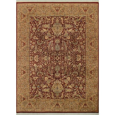 One-of-a-Kind Delron Hand-Knotted Wool Red/Tan Area Rug