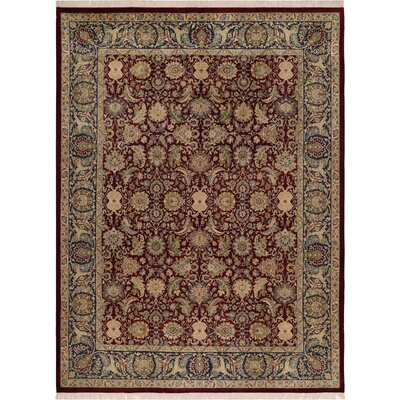 One-of-a-Kind Delron Hand-Knotted Wool Aubergine/Blue Area Rug