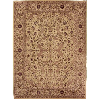 One-of-a-Kind Delron Hand-Knotted Wool Tan/Ivory Area Rug