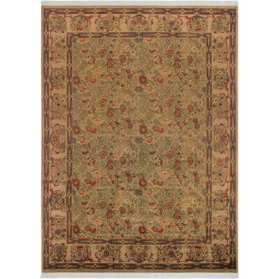 One-of-a-Kind Delron Hand-Knotted Wool Tan/Gray Area Rug