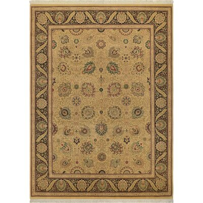 One-of-a-Kind Delron Hand-Knotted Wool Gold/Black Area Rug