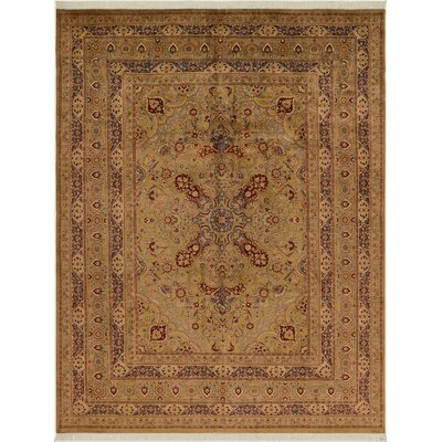 One-of-a-Kind Delron Hand-Knotted Wool Light Green Area Rug